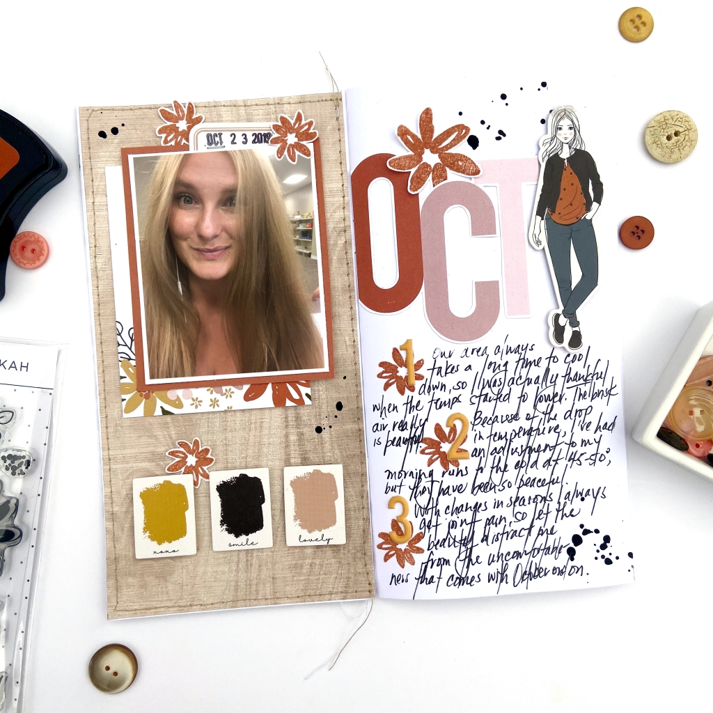 Felicity Jane │ Traveler's Notebook Spread │ Rebekah Kit │ Lydia Cost