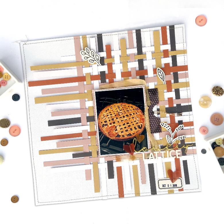 Felicity Jane Rebekah Kit │ 12x12 Lovely Lattice Layout │ Lydia Cost