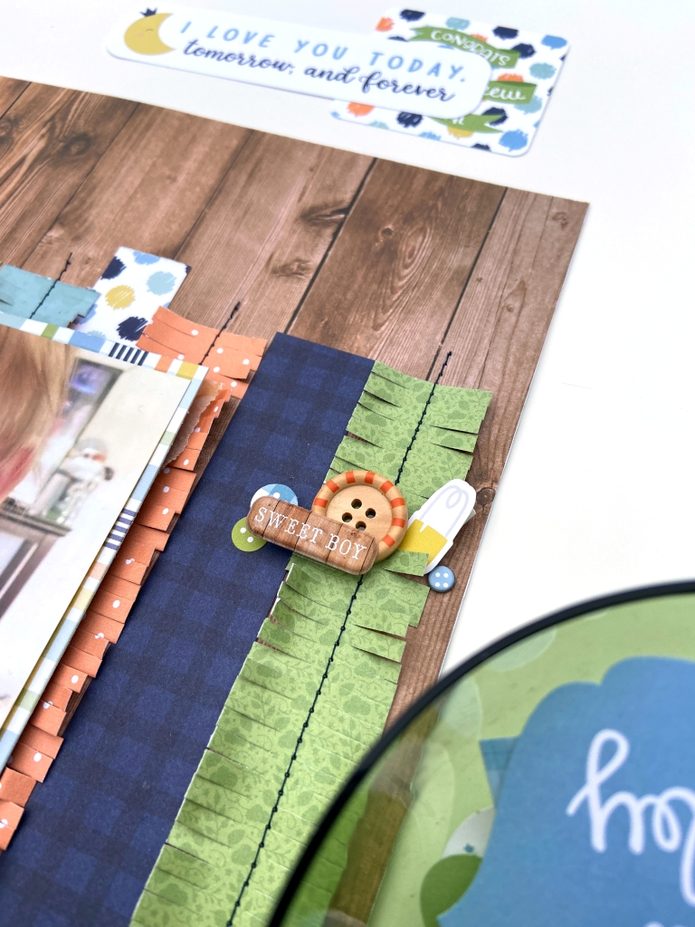 Echo Park Baby Boy Collection Scrapbook Layout │ Lydia Cost