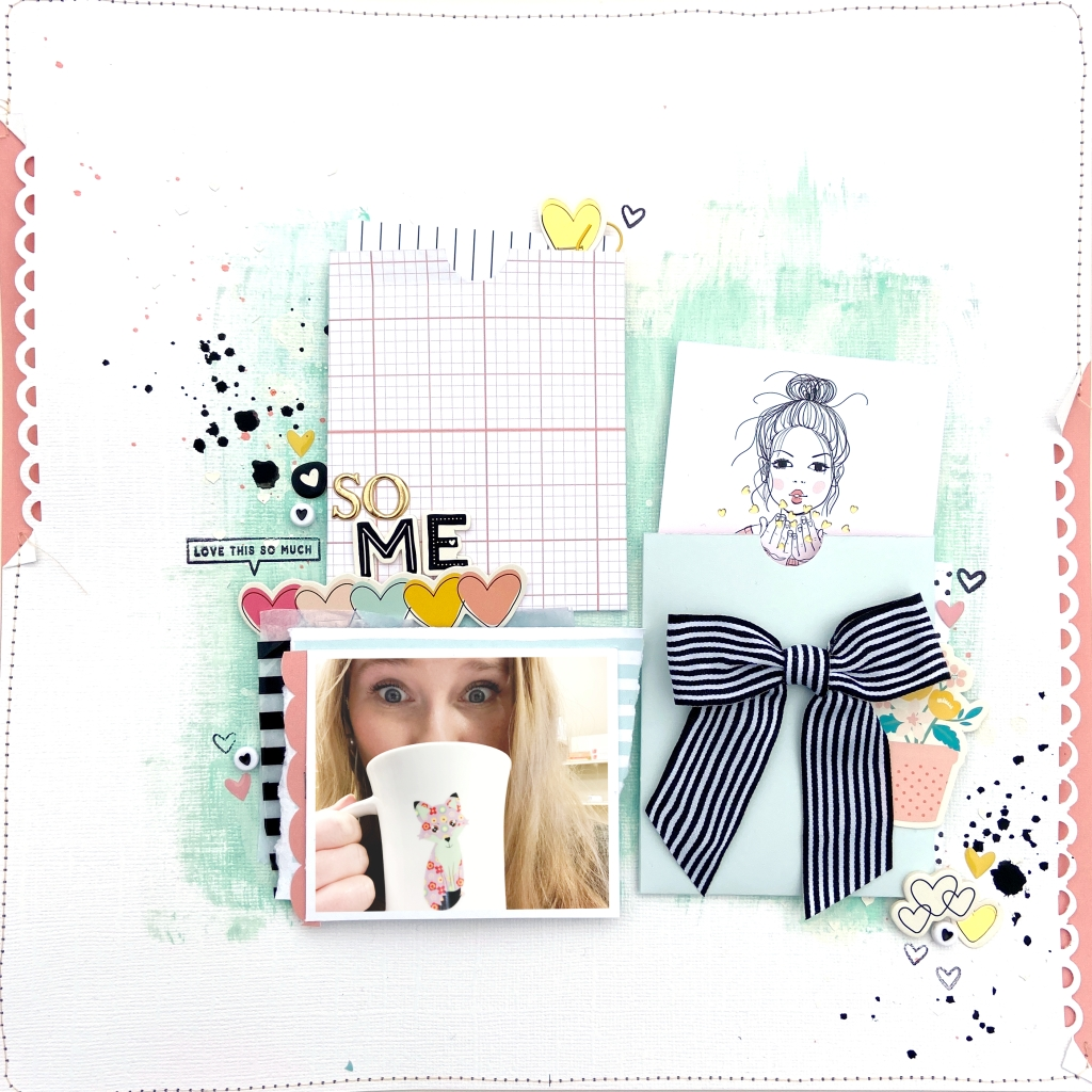 12x12 Scrapbook Layout: So Me │  Felicity Jane Bailey │ Lydia Cost