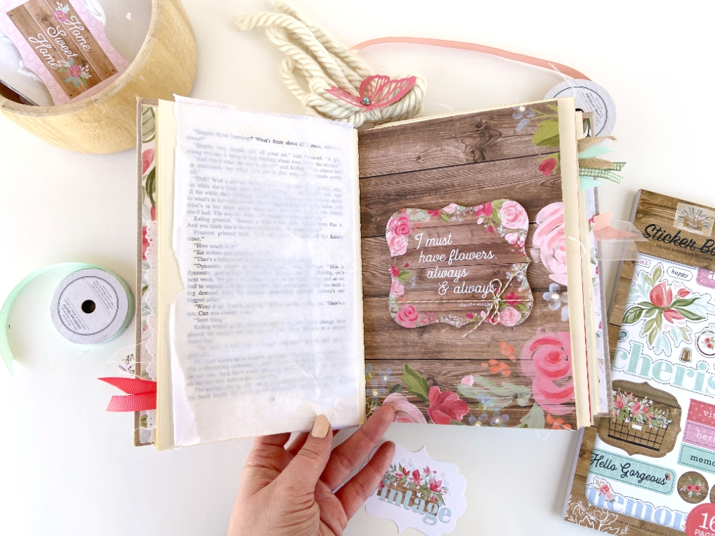 Cherished Memories Altered Book │ Carta Bella Farmhouse Market │ Lydia Cost
