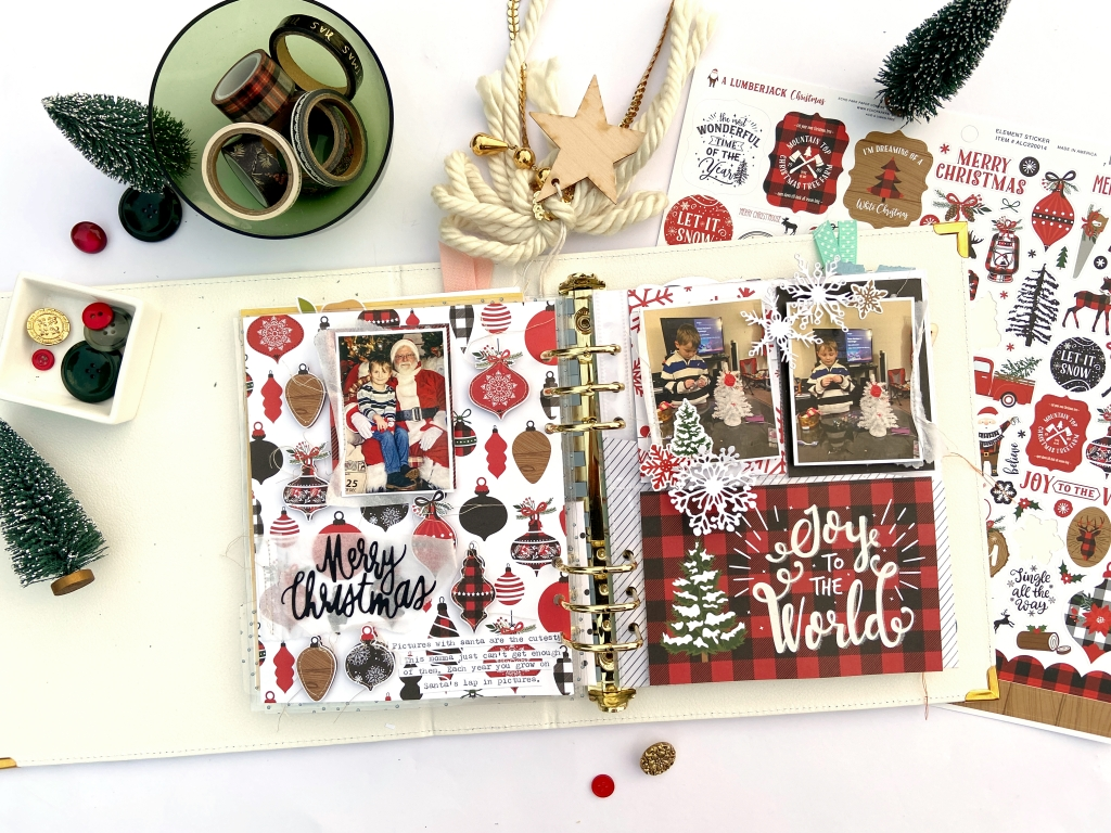 6X8 DECEMBER DAILY PAGES │ A LUMBERJACK CHRISTMAS │ LYDIA COST