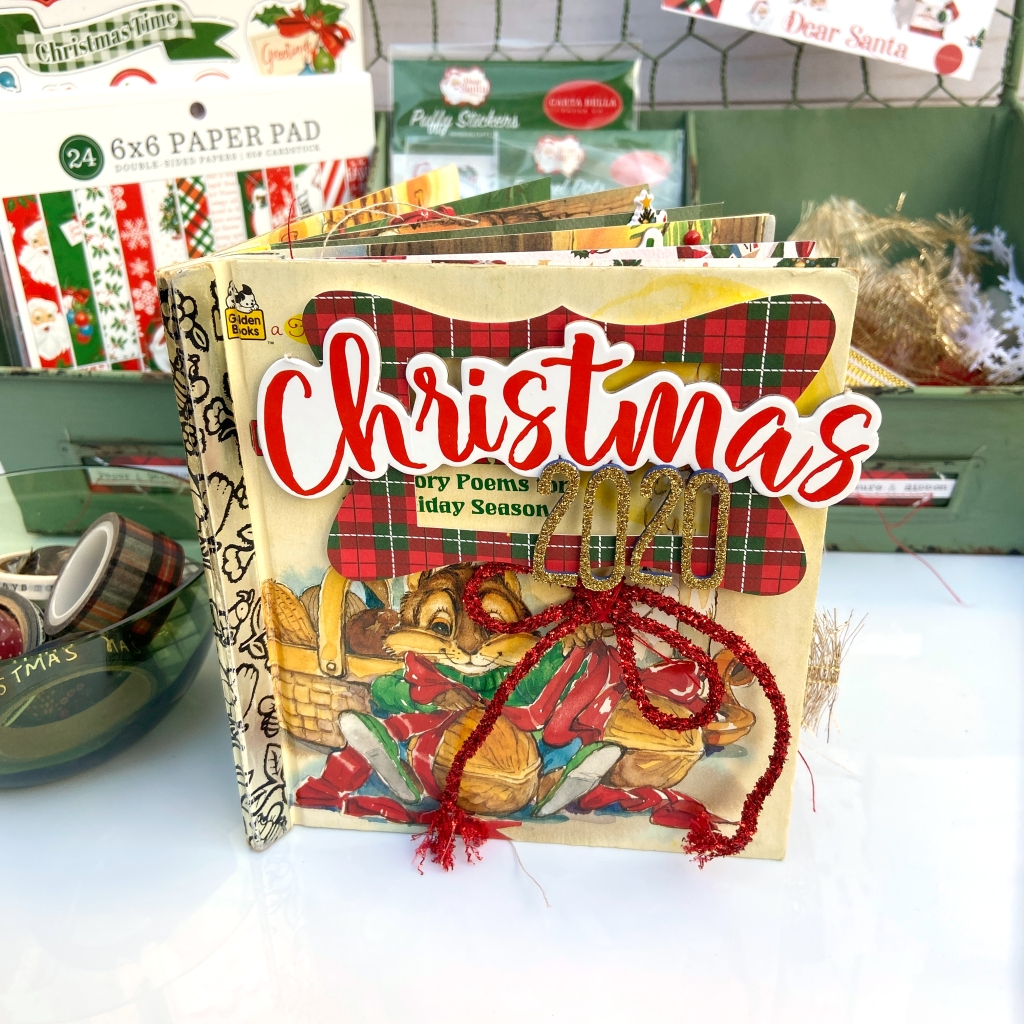 Carta Bella Dear Santa Little Golden Altered Book - Lydia Cost